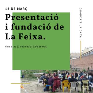 Cartell de l'acte de presentació i fundació de La Feixa