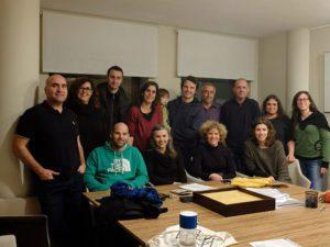 Sòcies fundadores de La Feixa al notari. 14 de gener de 2020
